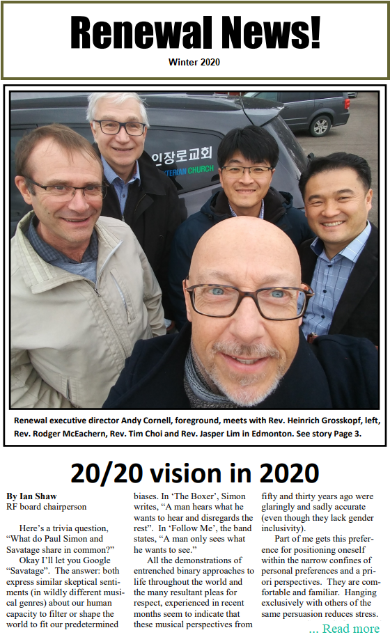 Renewal News Winter 2020