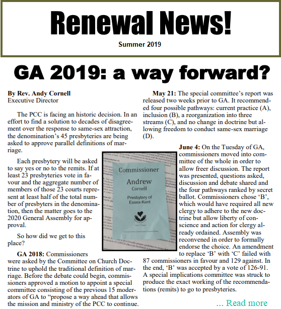 Renewal News Summer 2019